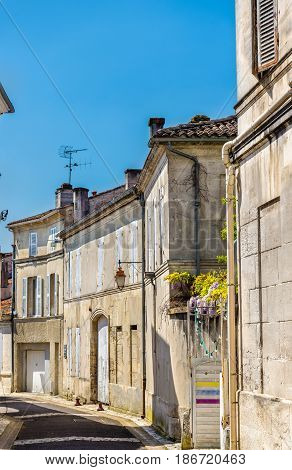 Historic buildings in Cognac, a town in France - Charente department