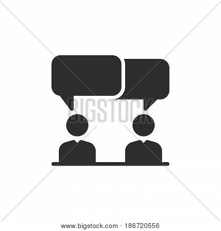 Discussion dispute icon vector filled flat sign solid pictogram isolated on white. Symbol logo illustration. Pixel perfect
