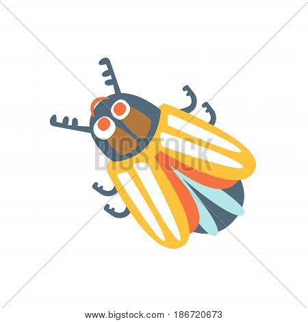 Cartoon colorado potato beetle, colorful character vector Illustration isolated on a white background