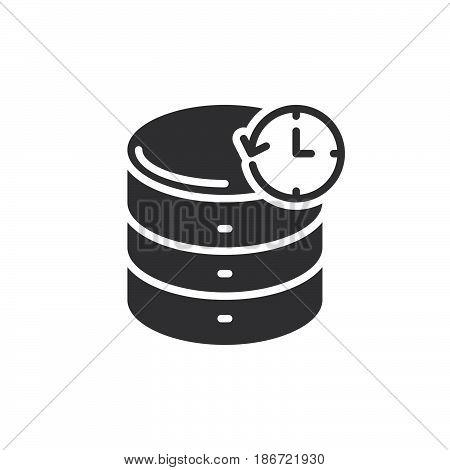 Database backup icon vector filled flat sign solid pictogram isolated on white. Symbol logo illustration. Pixel perfect
