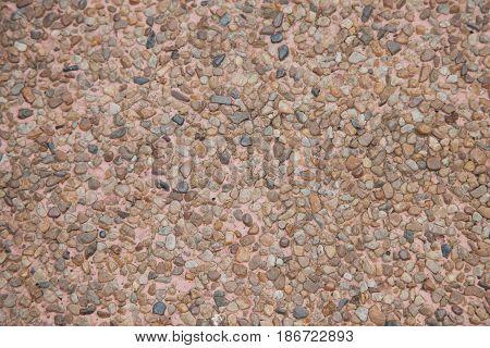 Background surface of gravel stone terrazzo floor