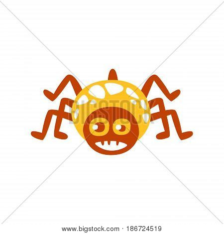 Cute funny cartoon spider colorful character vector Illustration isolated on a white background