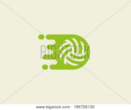 Fast moving ball logotype. Sport vector logo design