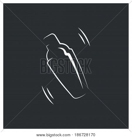 shaker logo. bar cocktail design background 8 eps