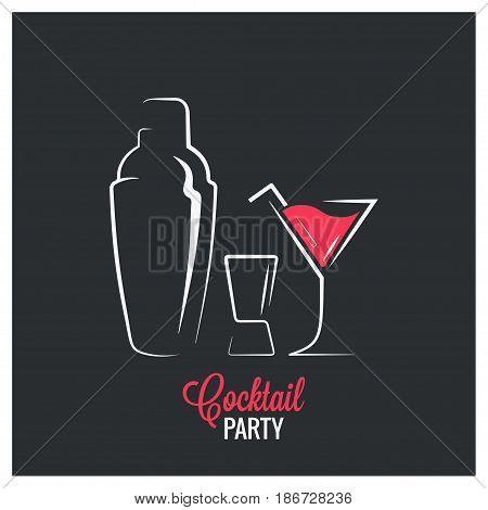 Cocktail shaker logo design background 8 eps