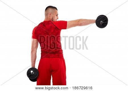 Young Man Doing Shoulder Workout