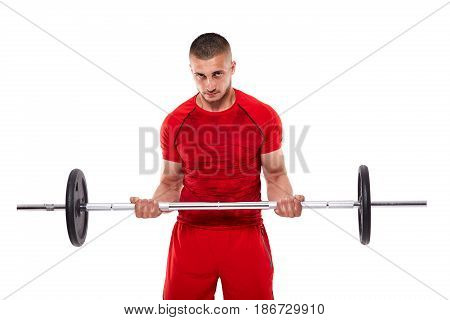 Young Man Doing Biceps Workout