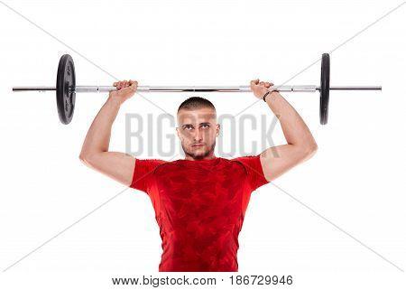 Man Doing Shoulders Workout