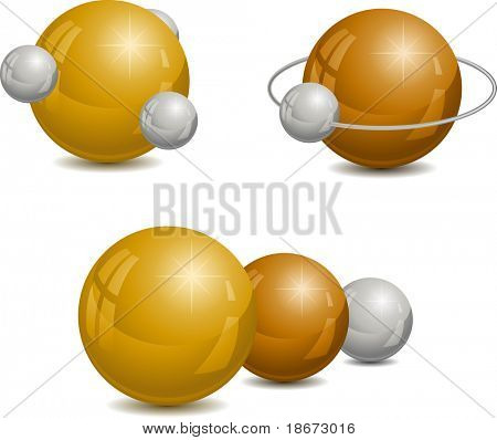 Abstract design with spheres. Vector illustration.