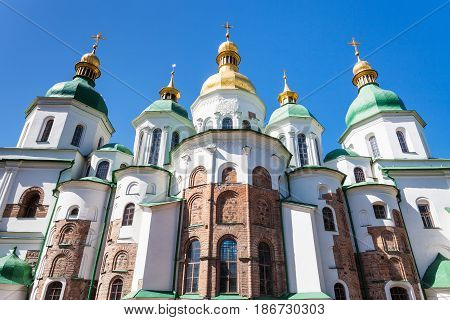 View Of Saint Sophia Cathedral In Kiev City