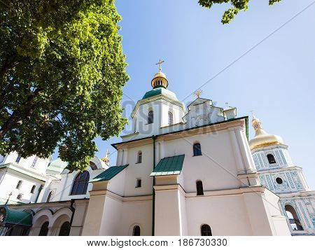Edifice Of Saint Sophia Cathedral In Kiev City