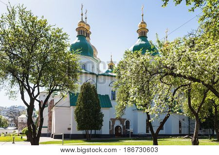 Building Of Saint Sophia Cathedral In Kiev City