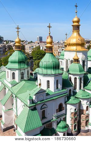 Above View Of Edifice Of Saint Sophia Cathedral