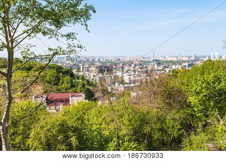Zamkova Hora Hill And Podil District In Kiev