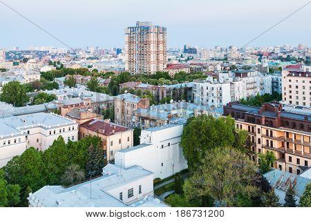 View Of Residential District In Kiev City In Spring Sunrise