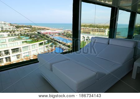 Apartment with sea view in modern hotel Antalya Turkey