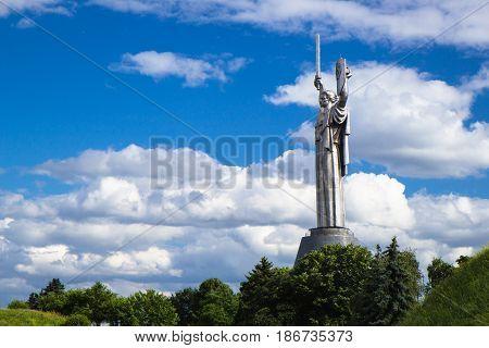 Kiev, Ukraine - May 17, 2015: Museum Of History Of Ukraine In World War Ii. The Monument Of Motherla