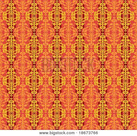 Color Floral Seamless Background Patten. Vector Illustration.