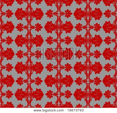 Red On Steel Seamless Background Patten. Vector Illustration.