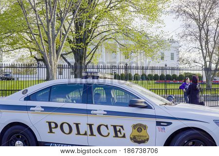 Secret Service Police Car at the White House - WASHINGTON DC - COLUMBIA