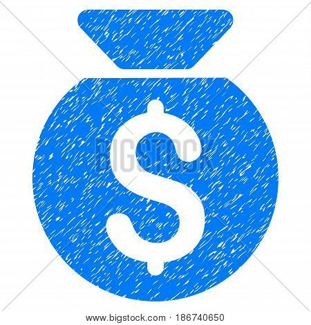 Grunge Financial Capital icon with grunge design and scratched texture. Unclean vector blue pictogram for rubber seal stamp imitations and watermarks. Draft emblem symbol.