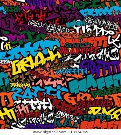 Seamless Graffiti Color Background