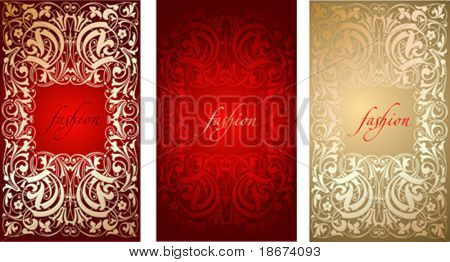 Red Gold Fashion Plate Background