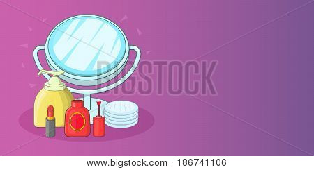 Hygiene horizontal concept. Cartoon illustration of hygiene banner horizontal vector for web