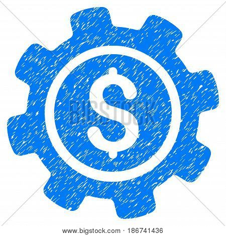 Grunge Payment Options icon with grunge design and scratched texture. Unclean vector blue pictogram for rubber seal stamp imitations and watermarks. Draft sticker symbol.
