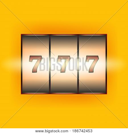 Simple 777 background. Vector illustration for online cassino