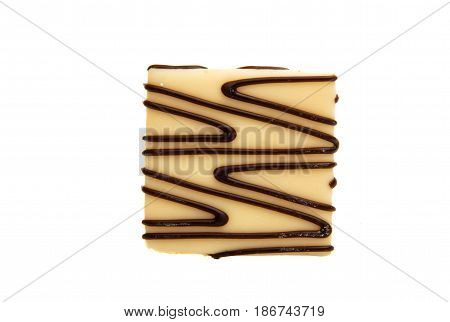 Fresh american cookies. chocolate cookies isolated on white background.