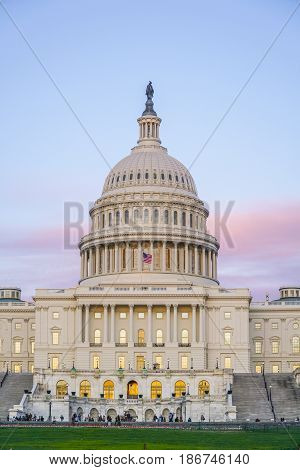 The famous US Capitol in Washington DC - WASHINGTON DC - COLUMBIA