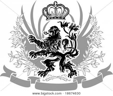 Decorative Heraldry Ornate Banner. Vector Illustration.