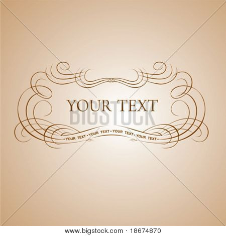 Calligraphy Text Banner. Vector Illustration.