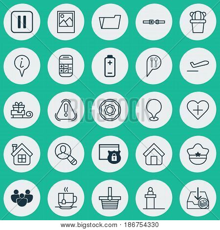 Set Of 25 Universal Editable Icons. Can Be Used For Web, Mobile And App Design. Includes Elements Such As Mute Song, Rostrum, Spectator And More.