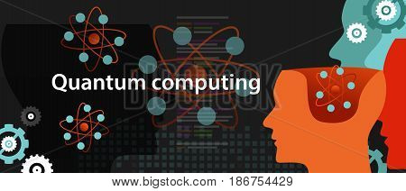 quantum computing physics technology science concept vector