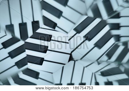 Abstract natural background, kaleidoscope effect, piano keys