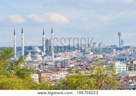 Ankara city skyline in springtime - Ankara, Turkey