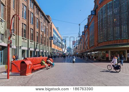 City Street In The Hague, Netherlands