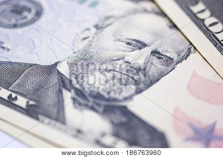 background of the money fifty dollar banknote front side.