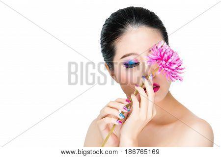 Stylish Holding Fresh Flower With Beautiful