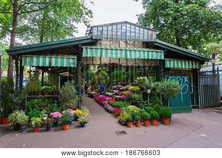 Pavilion Of The Flower Market In Paris, France