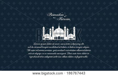 Collection stock of Ramadan Kareem style card vector art