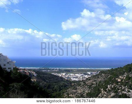 View from Denya in Haifa Israel January 2006