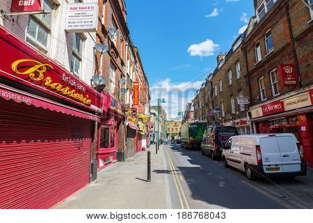 Brick Lane In Tower Hamlets, London, Uk