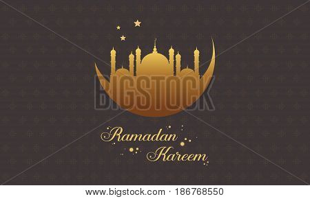 Ramadan Kareem greeting collection stock vector illustration