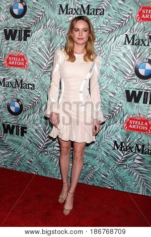 LOS ANGELES - FEB 24:  Brie Larson at the 10th Annual Women in Film Pre-Oscar Cocktail Party at Nightingale Plaza on February 24, 2017 in Los Angeles, CA