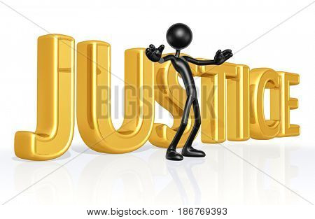 Obstruction Of Justice With The Original 3D Character Illustration