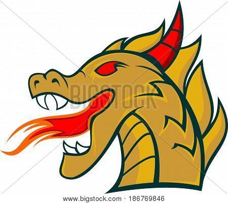 logo illustration dragon head cartoon imagine animal