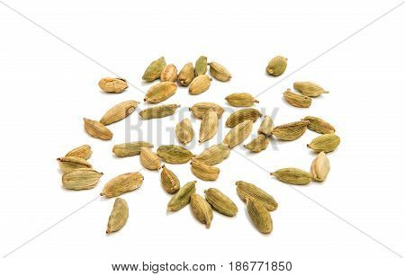 Cardamom asian aromatic isolated on white background
